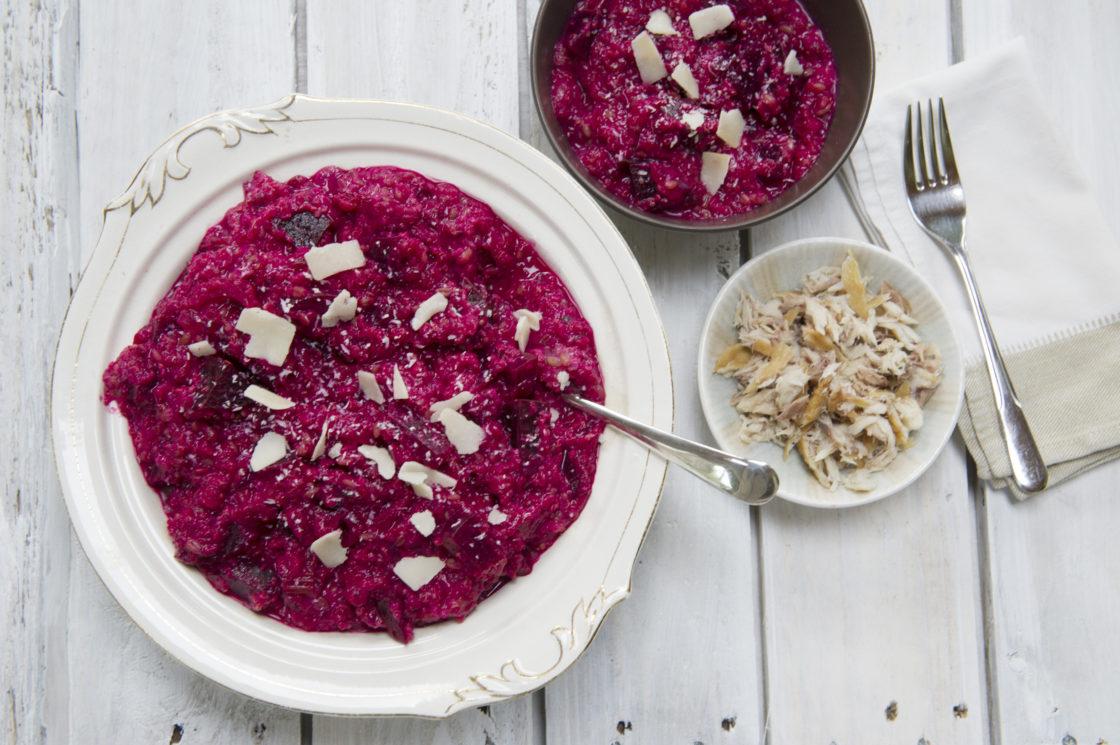 Beetroot Quinoa Risotto; Delalicious
