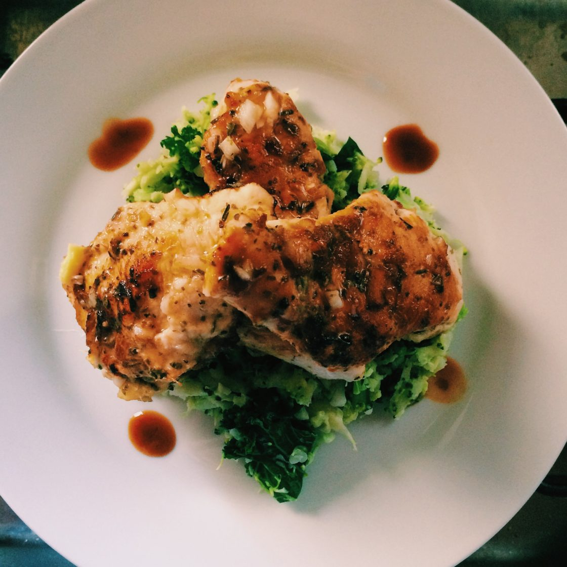 Citrus Chicken with Broccoli Rice; Delalicious