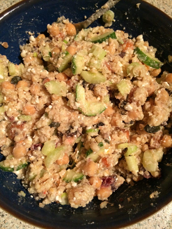 Quinoa & Veg Tahini Salad; Delalicious