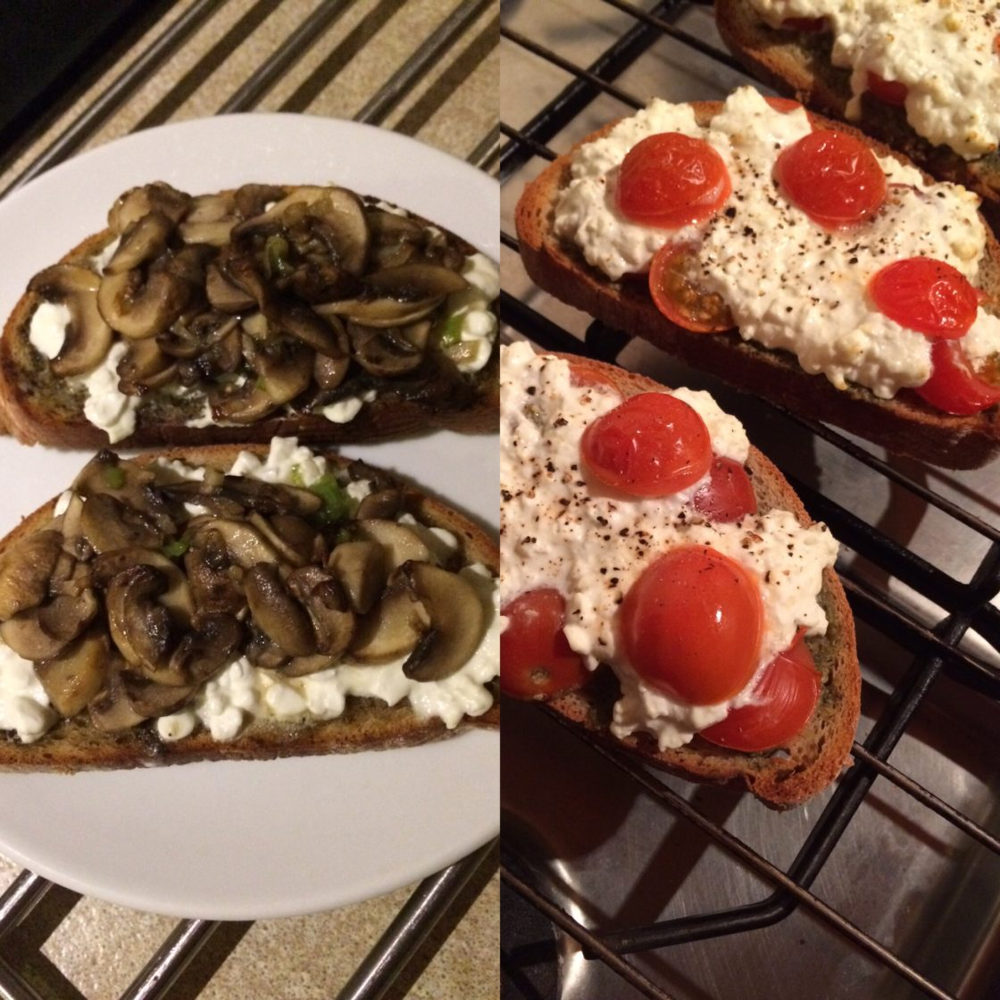 Cheesey Pesto Toasts; Delalicious