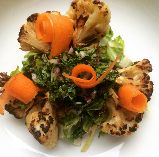 Roast Cauliflower; Delalicious