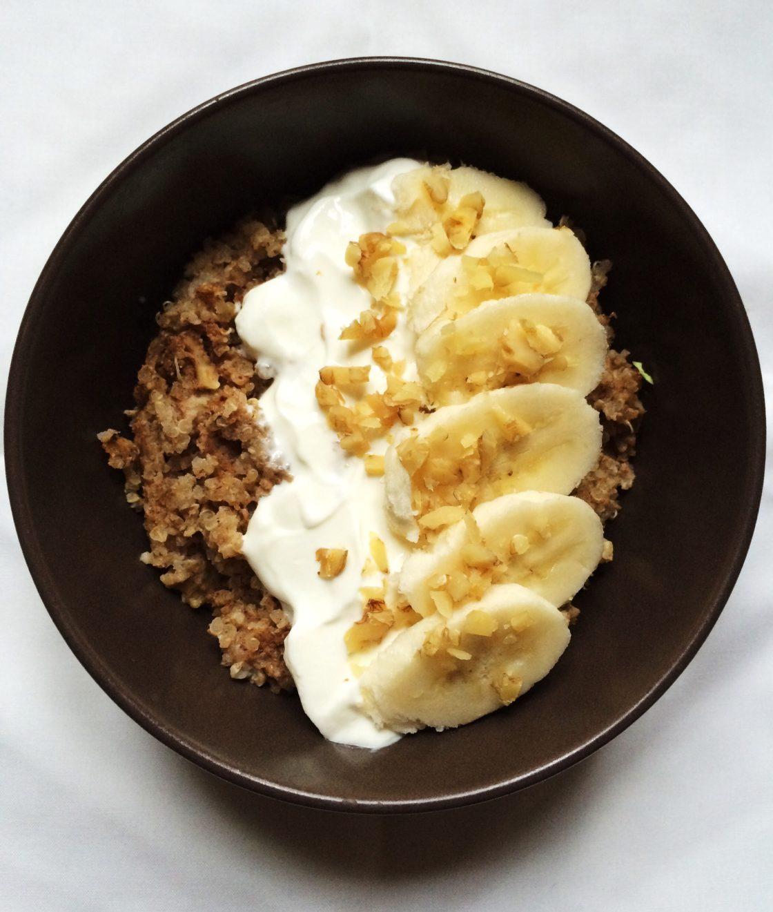 Baked Banana & Amaranth Porridge; Delalicious