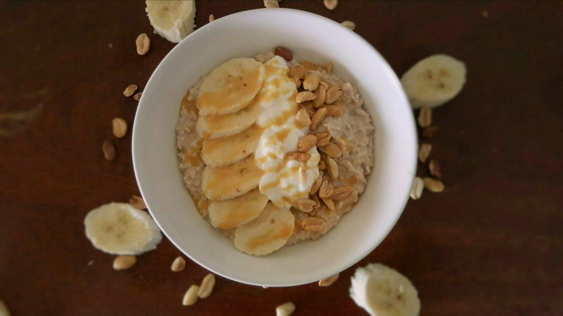 Banana & Nut Overnight Oats; Delalicious