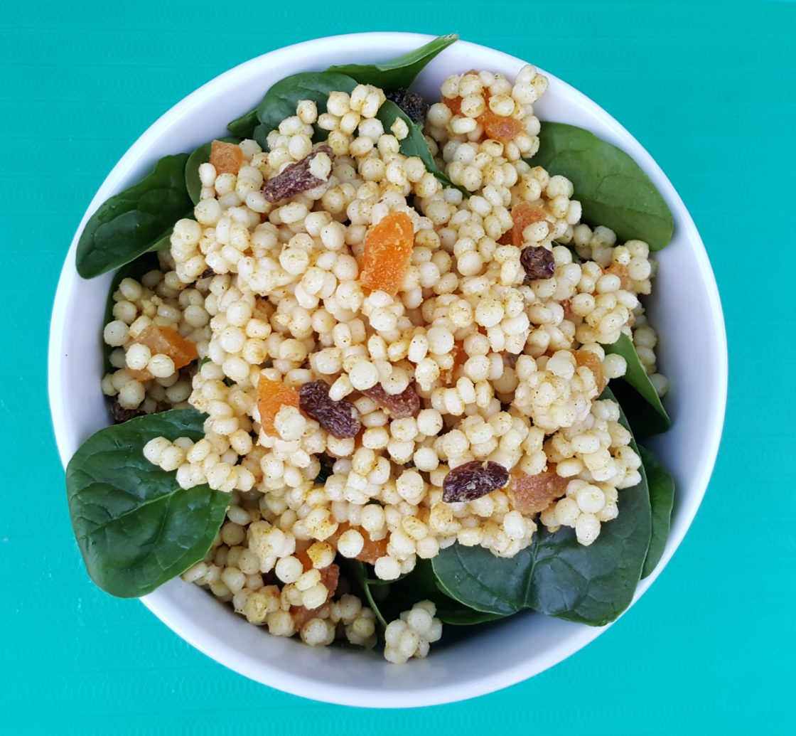 Apricot & Raisin Curried Couscous; Delalicious