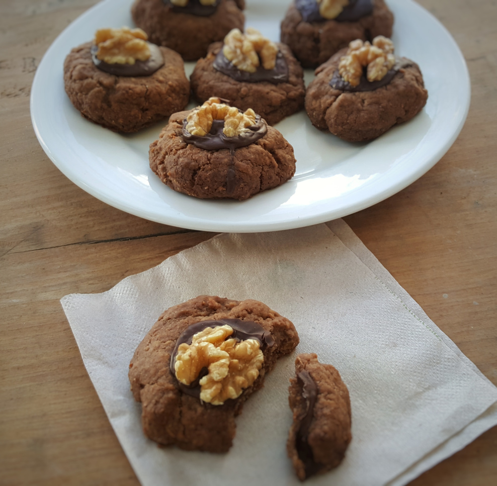 Dark Chocolate & Walnut Afghan Cookies; Delalicious