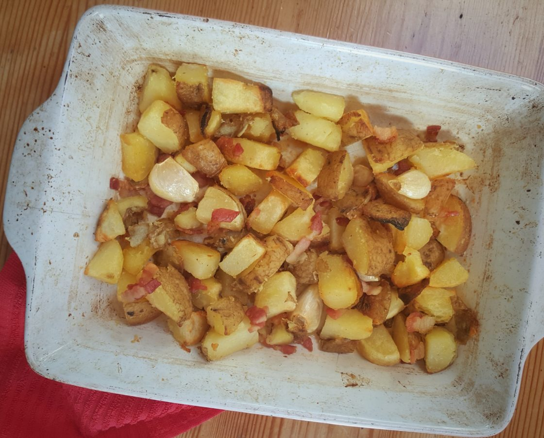 Garlic & Bacon Home Fries; Delalicious