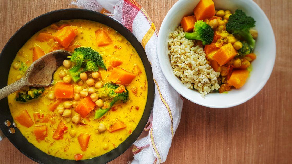 Broccoli, Squash & Chickpea Curry; Delalicious