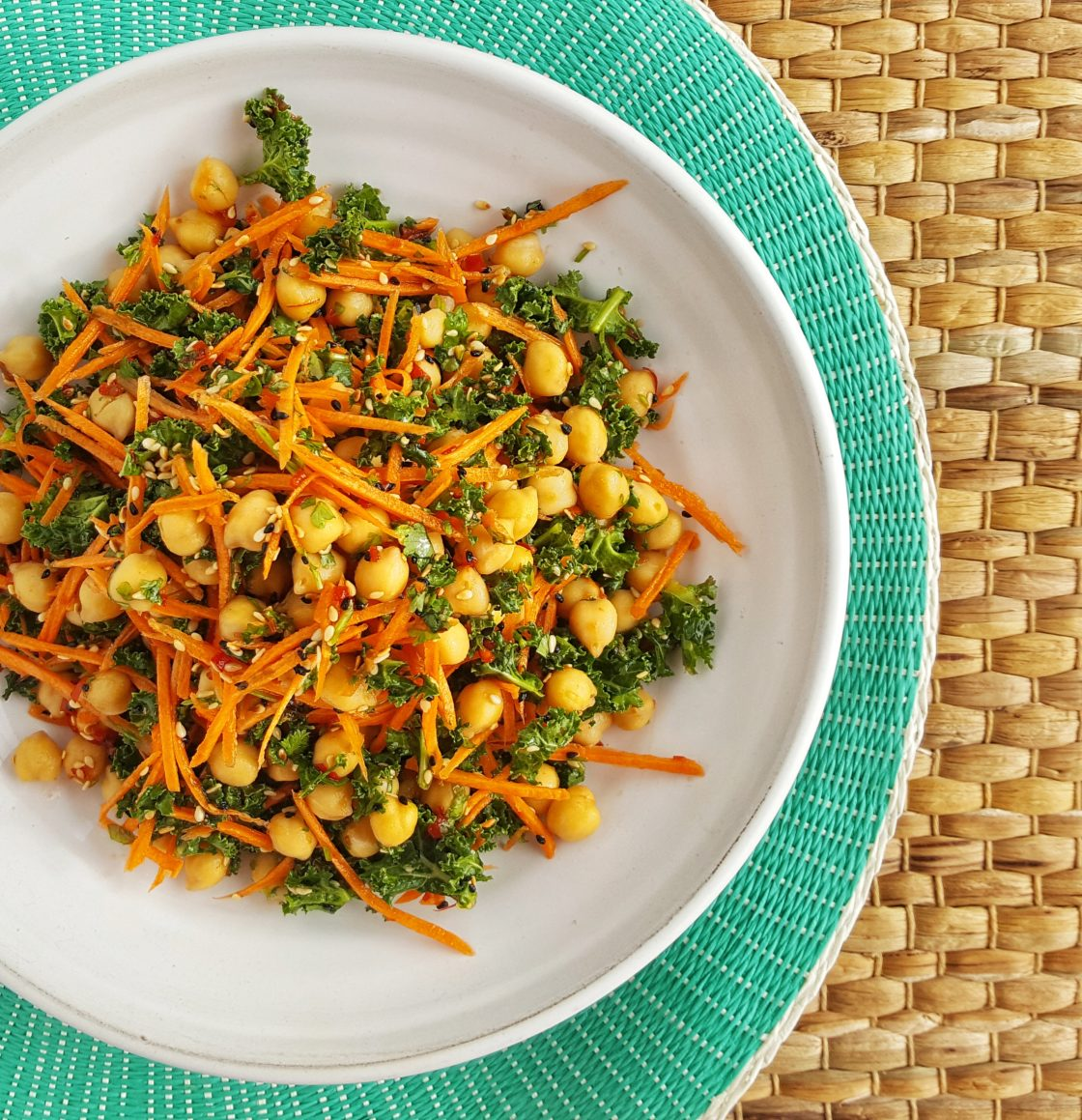 Chickpea and Carrot Salad; Delalicious