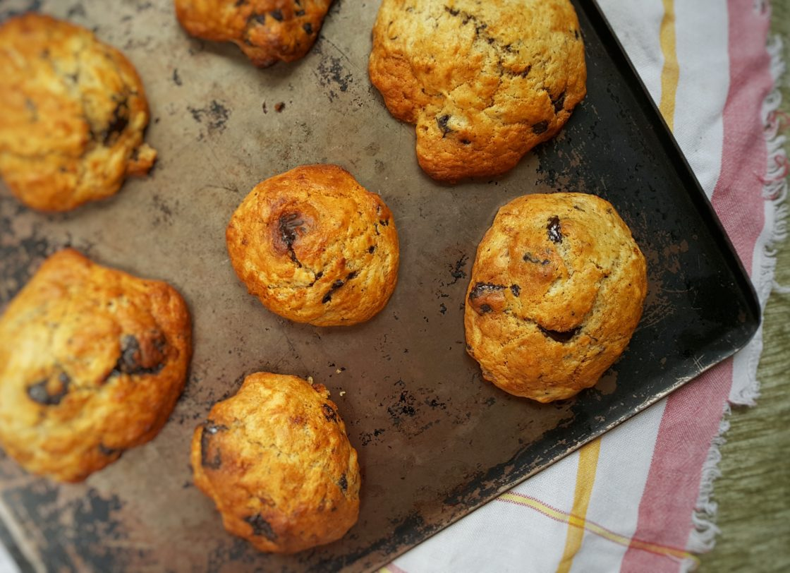 Chocolate Chip Banana Cookies; Delalicious