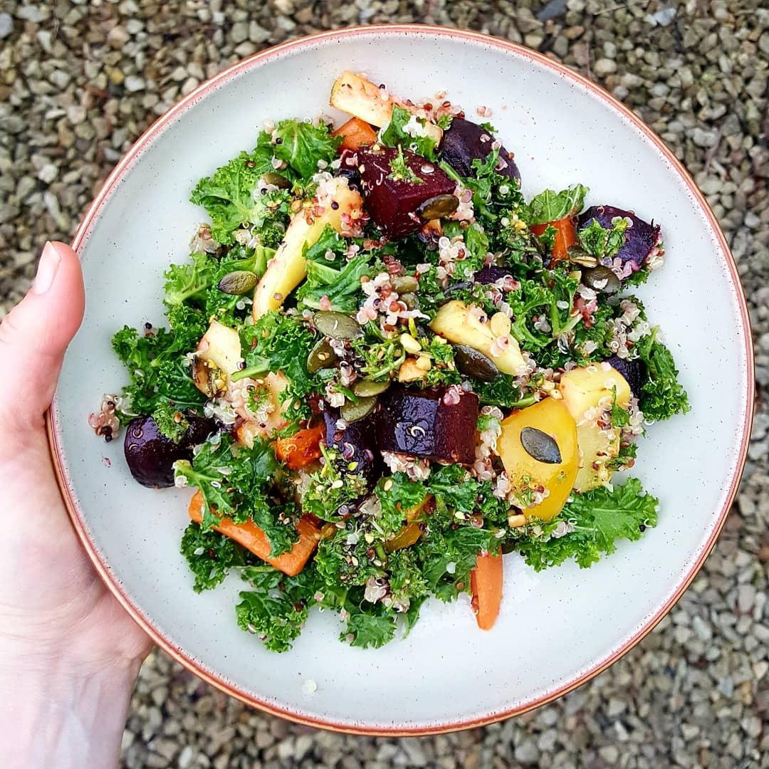 Leftover Grains Salad; Delalicious