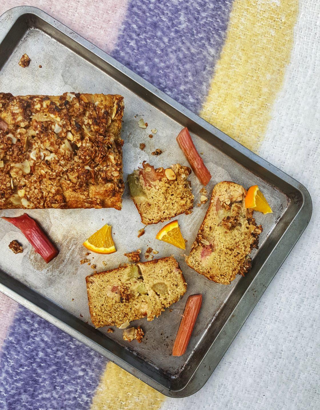 Rhubarb & Orange Loaf; Delalicious
