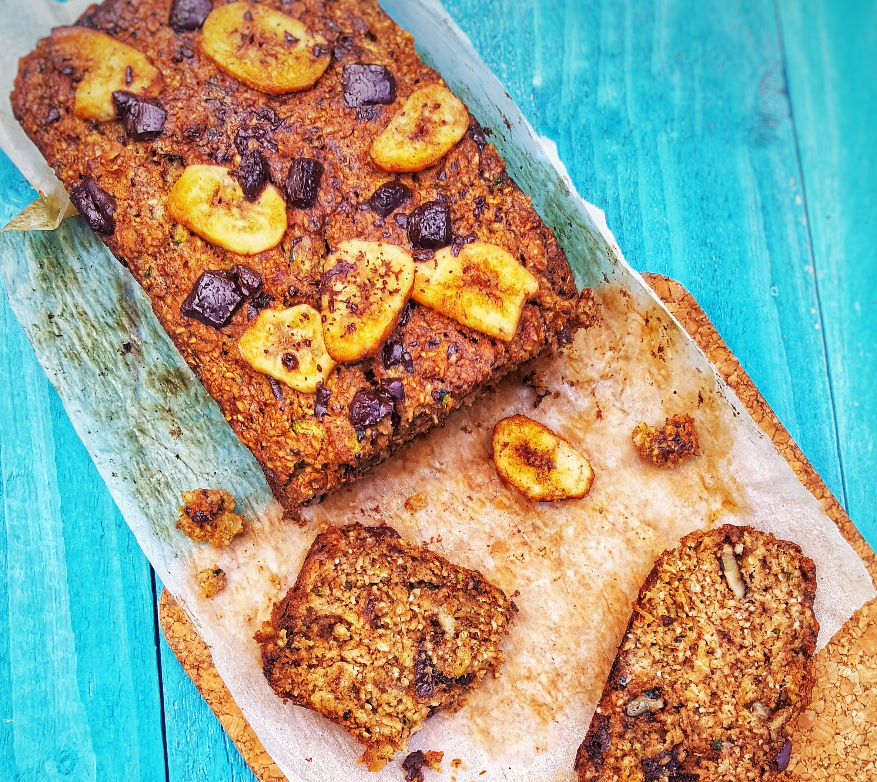 Courgette, Banana & Dark Chocolate Loaf; Delalicious