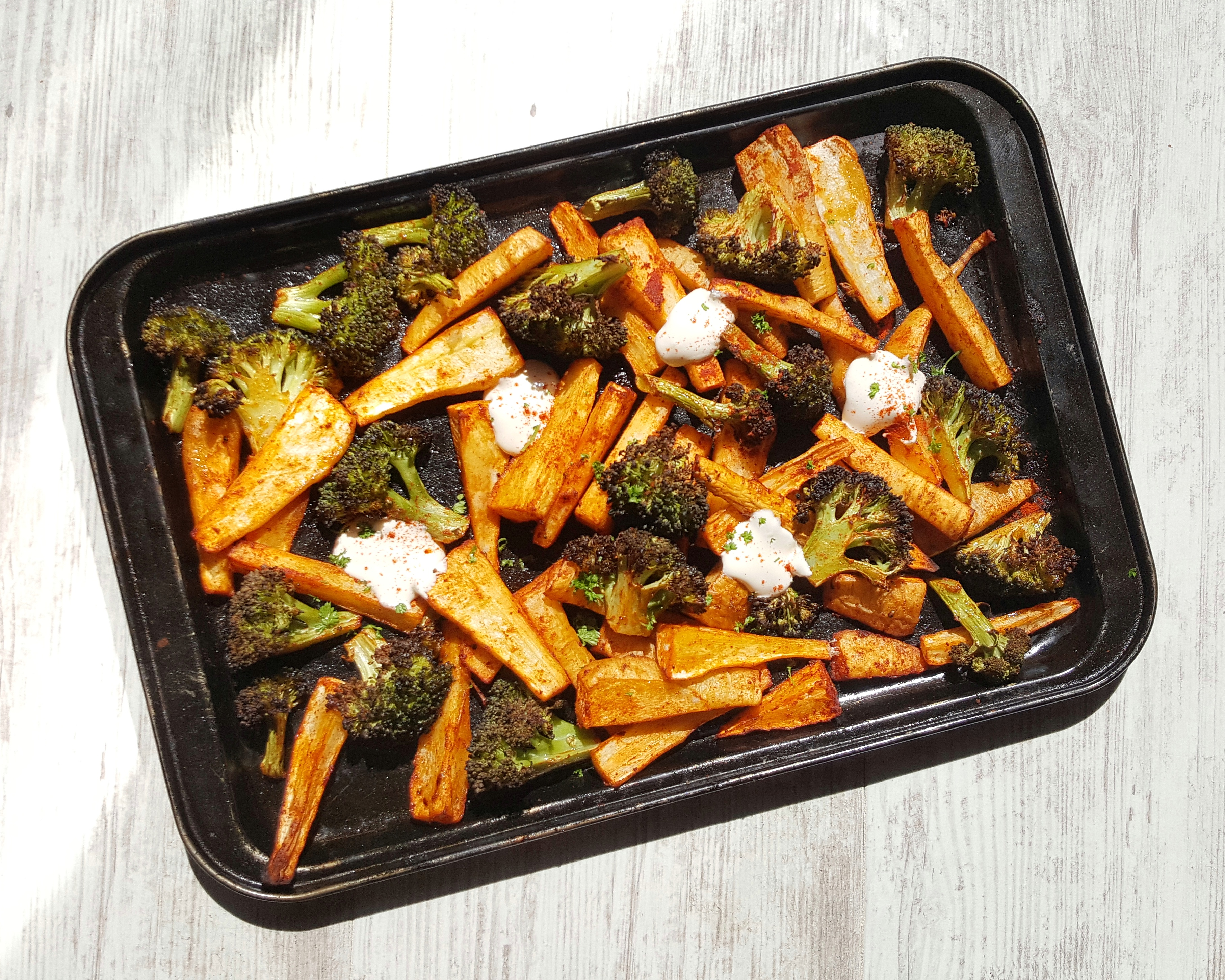 Paprika Roast Parsnip & Broccoli; Delalicious; Sinead Delahunty