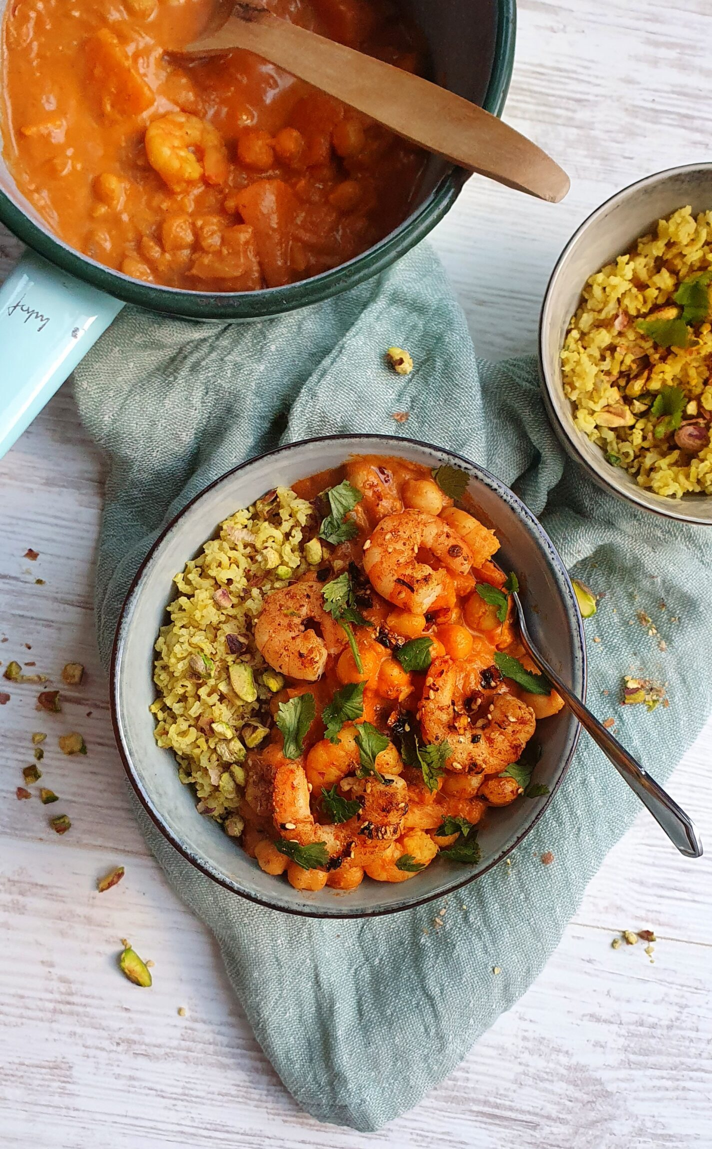 Indian Prawn & Chickpea Curry; Delalicious; Sinead Delahunty