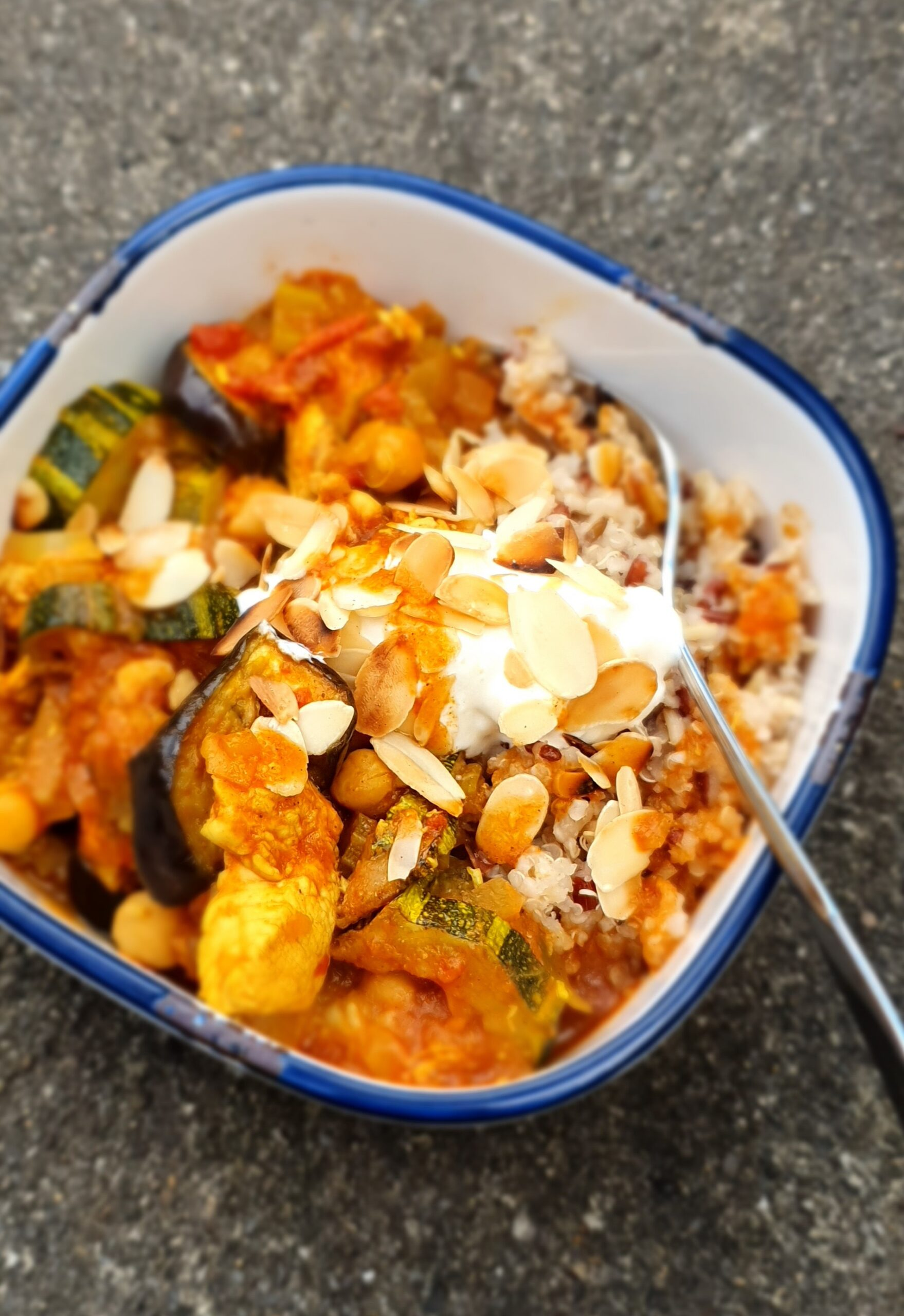Roast Courgette & Aubergine Chicken Curry; Delalicious; Sinead Delahunty